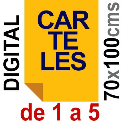 Cartel 70x100 - De 1 a 5 - Impresión Digital en papel póster