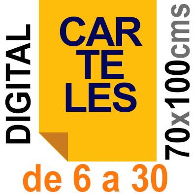 Cartel 70x100 - de 6 a 30  Impresión Digital en papel póster