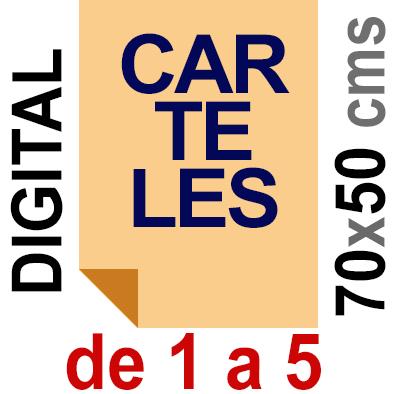 Cartel  50x70- De 1 a 5  Impresión Digital en papel póster