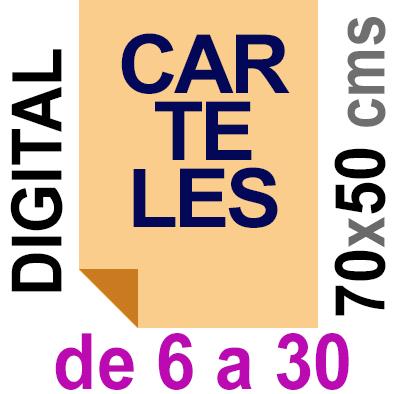 Cartel 50x70 - De 6 a 30  Impresión Digital en papel póster