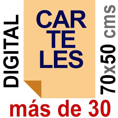 Cartel 50x70 - Más de 30  Impresión Digital en papel póster