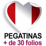 Pegatinas. Más de 30 folios (A4)