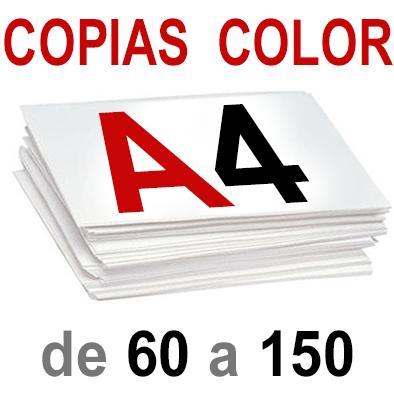 A4 Copias Color de 60 a 150