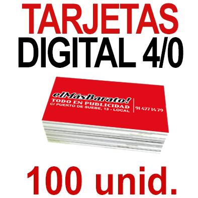 100 Tarjetas 8,5x5,5 - Impresión Premium Digital Color en 350 grms - 1 cara