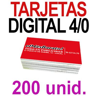 200 Tarjetas 8,5x5,5 - Impresión Premium Digital Color en 350 grms - 1 cara