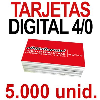5,000 Tarjetas 8,5x5,5 - Impresión Premium Digital Color en 350 grms - 1 cara