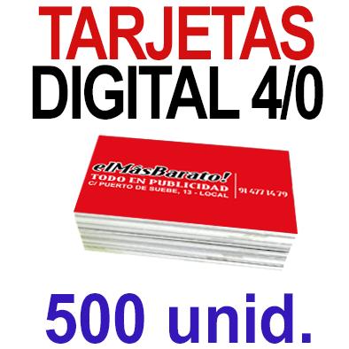 500 Tarjetas 8,5x5,5 - Impresión Premium Digital Color en 350 grms - 1 cara