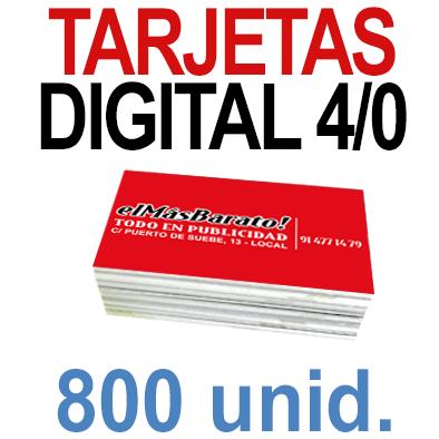 800 Tarjetas 8,5x5,5 - Impresión Premium Digital Color en 350 grms - 1 cara