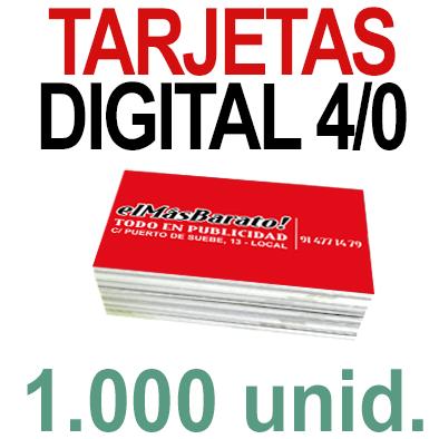 1,000 Tarjetas 8,5x5,5 - Impresión Premium Digital Color en 350 grms - 1 cara