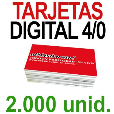 2,000 Tarjetas 8,5x5,5 - Impresión Premium Digital Color en 350 grms - 1 cara