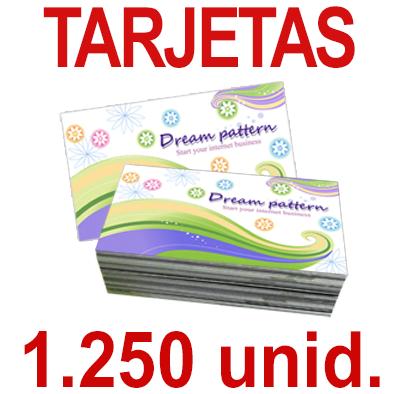 1250   Tarjetas 8,5x5,5 - Impresión Offset Color en 350 grms - 1 ó 2 caras
