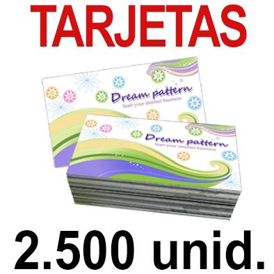 2500   Tarjetas 8,5x5,5 - Impresión Offset Color en 350 grms - 1 ó 2 caras