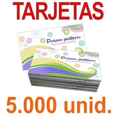 5000   Tarjetas 8,5x5,5 - Impresión Offset Color en 350 grms - 1 ó 2 caras