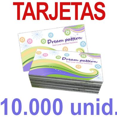 10,000   Tarjetas 8,5x5,5 - Impresión Offset Color en 350 grms - 1 ó 2 caras