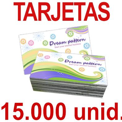 15,000   Tarjetas 8,5x5,5 - Impresión Offset Color en 350 grms - 1 ó 2 caras