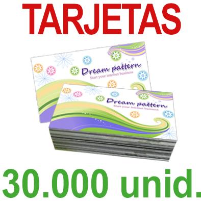 30,000   Tarjetas 8,5x5,5 - Impresión Offset Color en 350 grms - 1 ó 2 caras