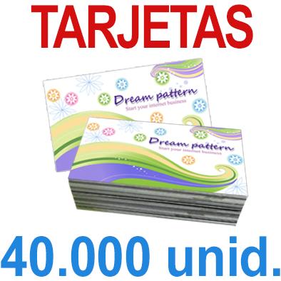 40,000  Tarjetas 8,5x5,5 - Impresión Offset Color en 350 grms - 1 ó 2 caras