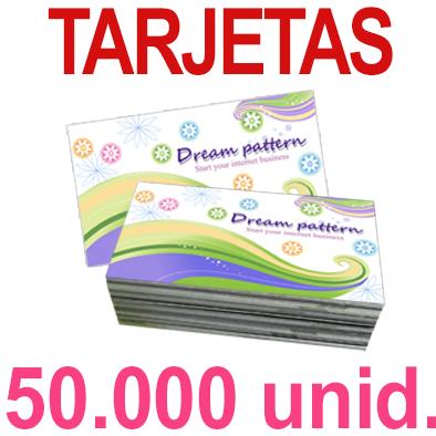 50,000   Tarjetas 8,5x5,5 - Impresión Offset Color en 350 grms - 1 ó 2 caras