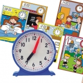 Reloj con 12 fichas de actividades