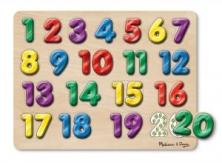 Encaje con sonido números