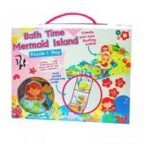 Set puzzle para baño Sirenas