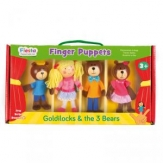 Set marionetas de dedo Ricitos de Oro