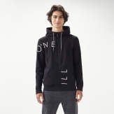 Cut off logo zip hoodie