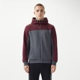 Block zip hoodie