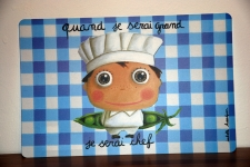 "Mantel individual ""Chef"" Issabelle Kessedjian"