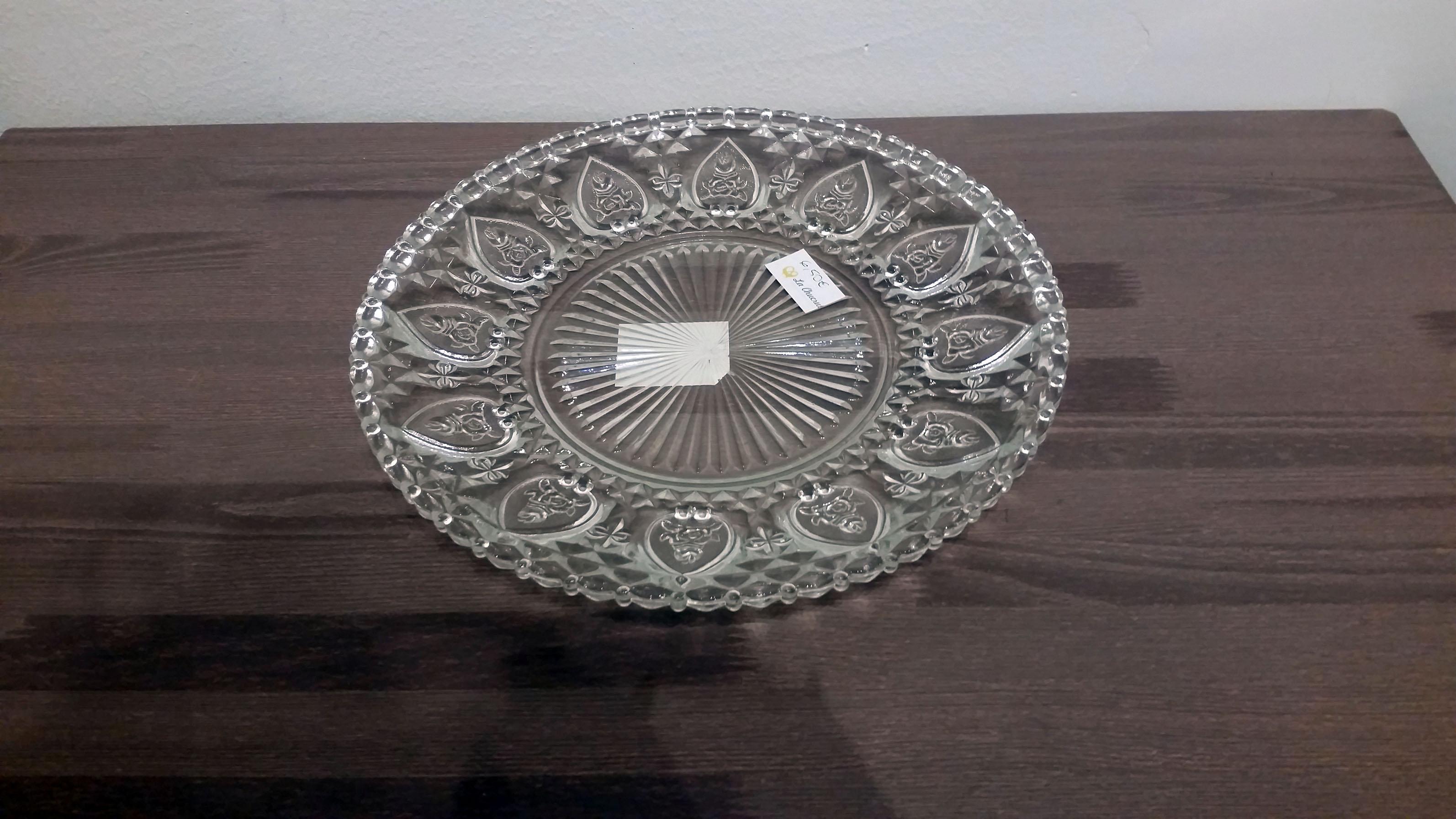 Plato cristal  tipo antiguo 30 cm