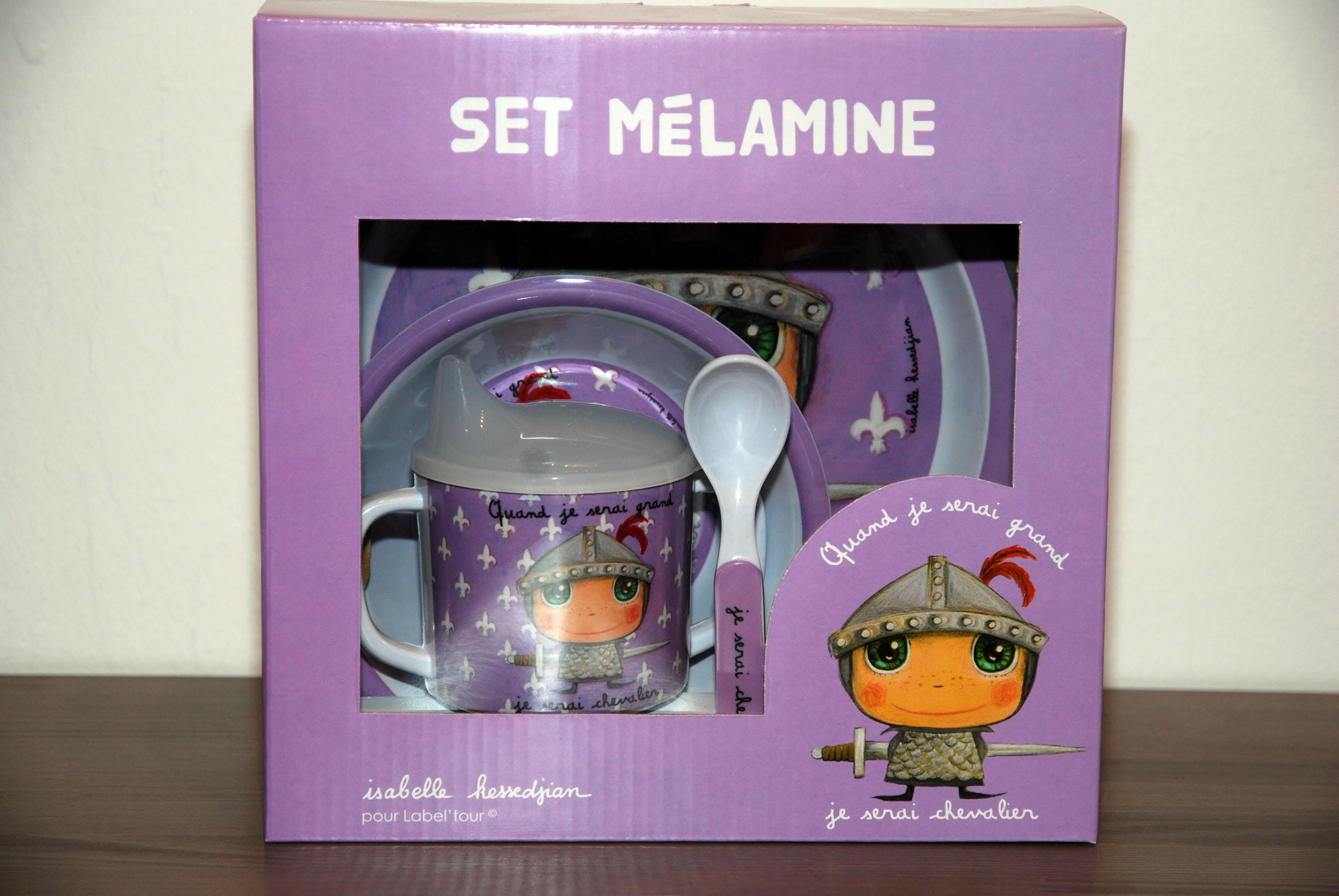 "Set melamina ""Chevalier"""