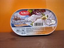 Filetes de arenque en salsa de nata