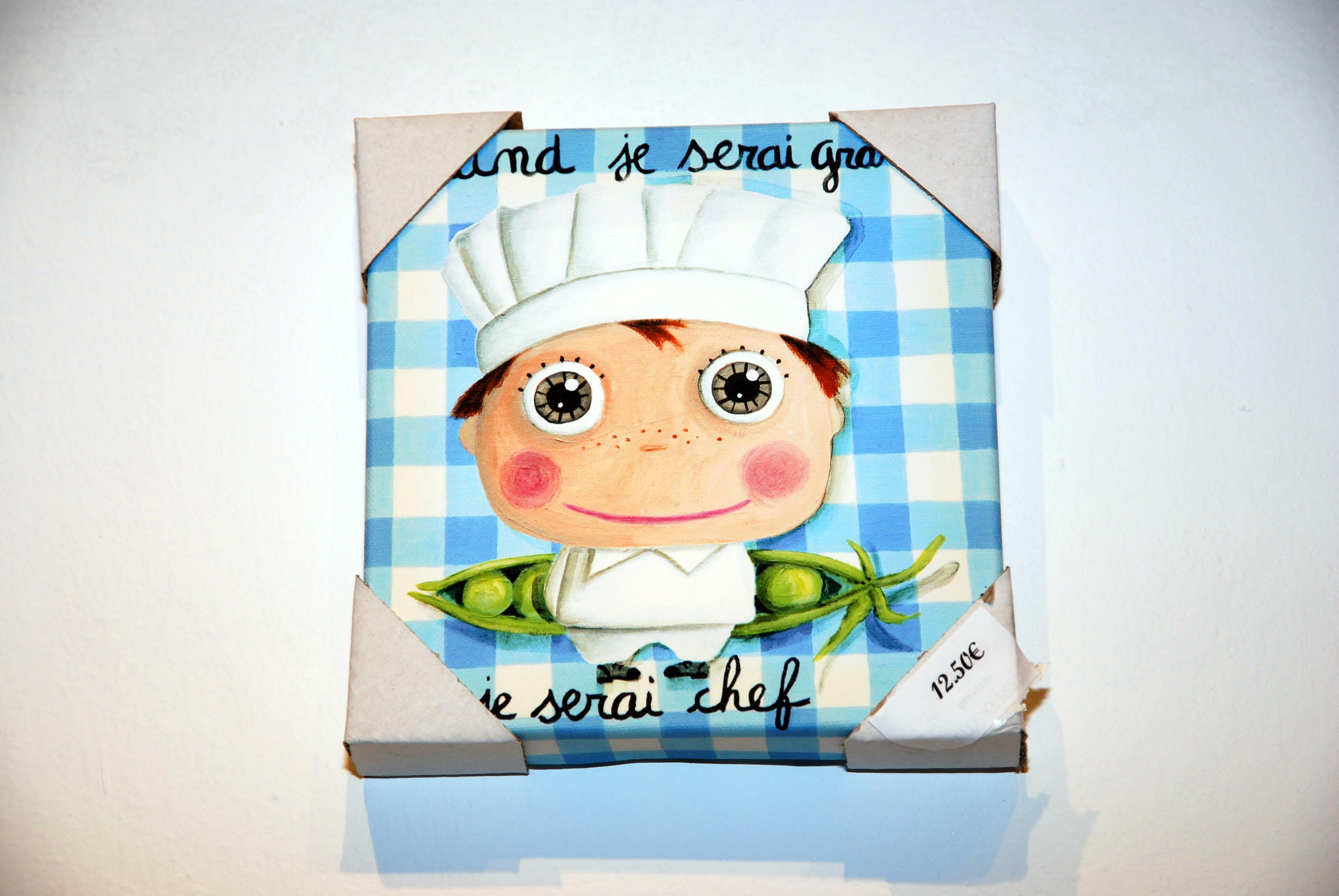 Cuadro chef pequeño