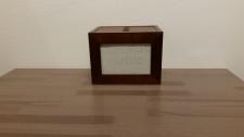 Caja fotos  madera oscura 10x15cm