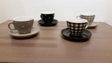 Juego de café 4pcs gris-negro