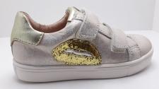 Zapato ACEBOS piel dos velcros platino