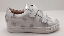 Zapato piel  ACEBOS  dos velcros estrellas plata