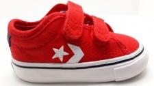 zapatilla Converse dos velcros  roja
