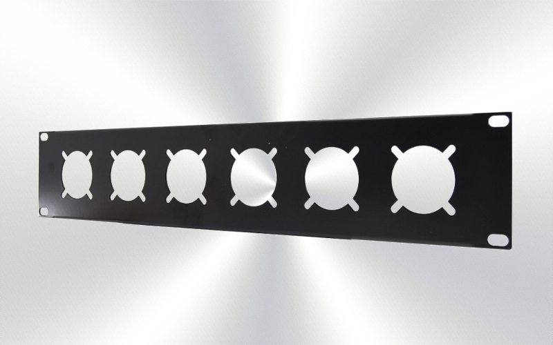Panel 2U rack para 6 Shuco Siluj -0030-0012-