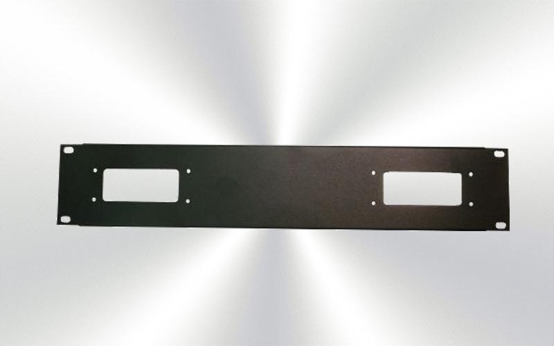 Panel 2U rack para 2 harting 16/72 polos -0030-0012-