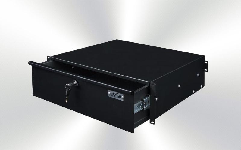 Cajón 3U netalico con llave  -4500-0020-