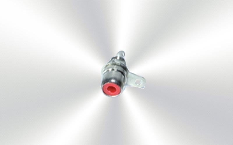 7242-RO -Base RCA sujeción a chasis rojo -0020-0000-