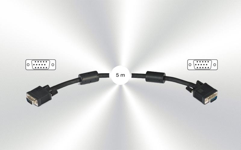 7818-5 (cable-2)-Conexión SVGA m/m+ferrita -0000-0000-