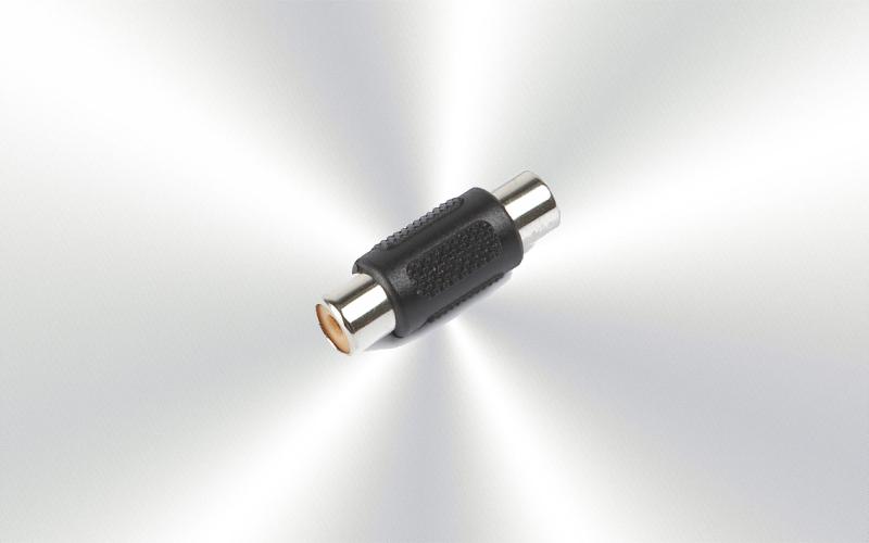 AA-460 - Adaptador de audio de RCA hembra a RCA hembra-0100-0025-