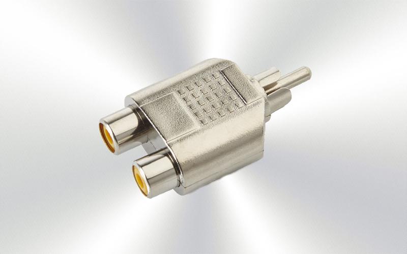 AA-463 -Adaptador RCA-macho a 2RCA-hembra -0048-0020-
