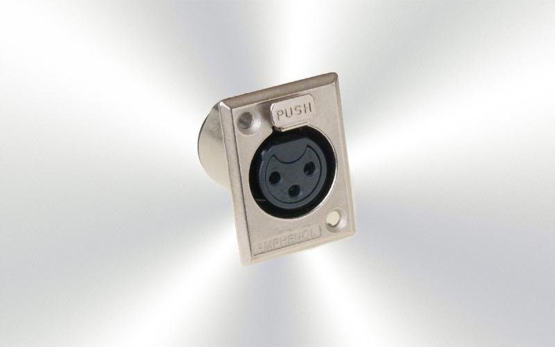 AC3FPZ Conector xlr chasis Amphenol -0020-0000-