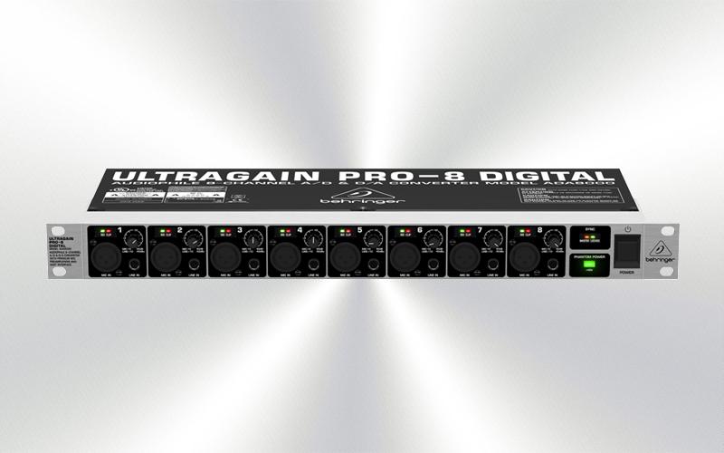 ADA800 -Previo 8 micro/línea Behringer Ultragain PRO-8 Digital