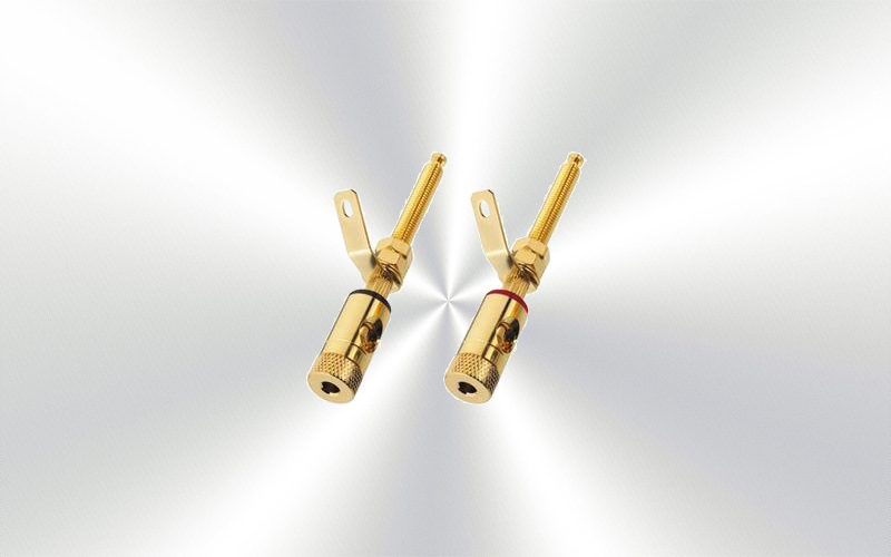 BP-270G -Bornas altavoz Monacor para madera pareja -0020-0000-