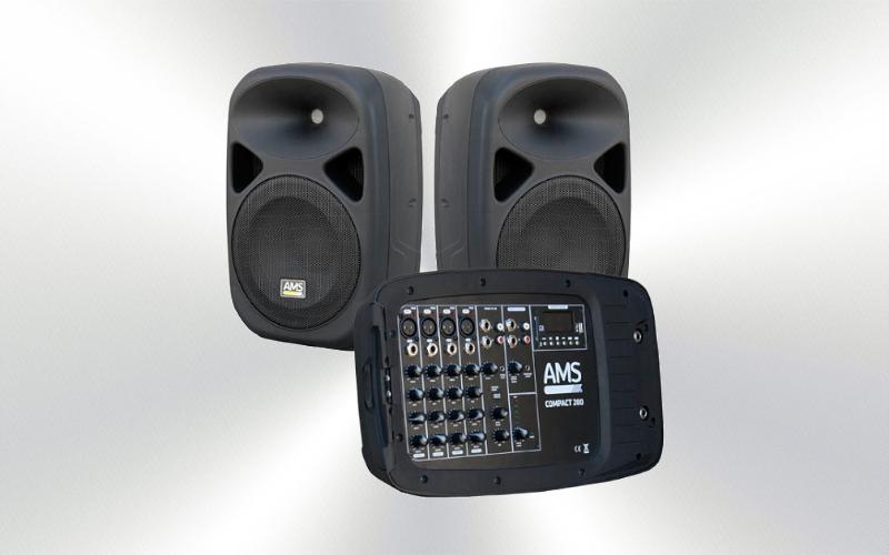 COMPACT 200 - Caja ampli. pareja 10´´+1´´ 150W USBSD -0010-0000-