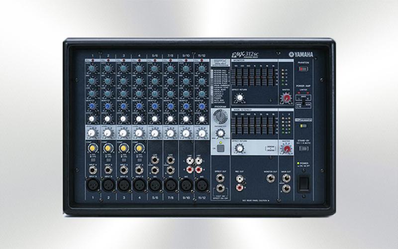 EMX312SC -Mesa amplificada 2x300w Yamaha -2000-0010-